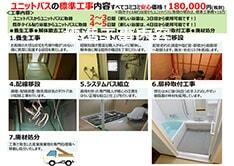 お風呂リフォーム工事金額